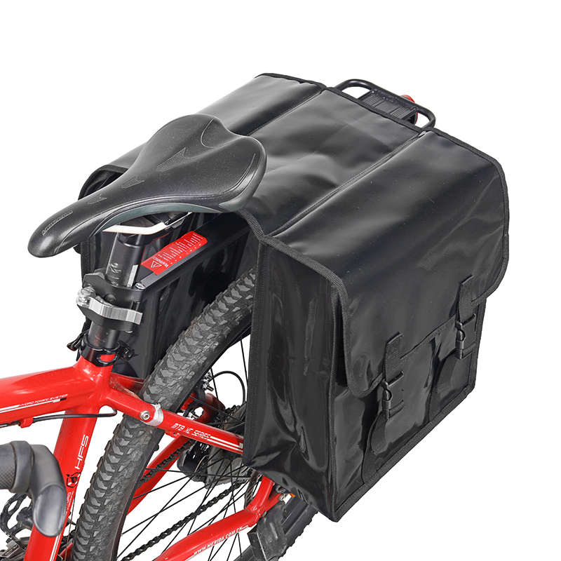 28L Bicycle Rear Seat Double Pannier Bag Tail Carrier Trunk MTB Road Bike Bag US