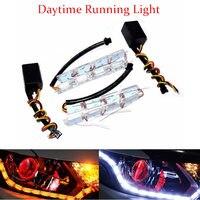 Car Styling Universial 8W 12LED Daytime Running Lights Waterproof External HeadLight LED Car Strip Light Source