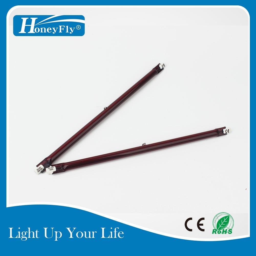 HoneyFly5pcs Infrared Halogen LampJ254 1000W/1300W 220V 254mm R7S IR Heater Lamp Heating Element Painting Drying Printing Quartz