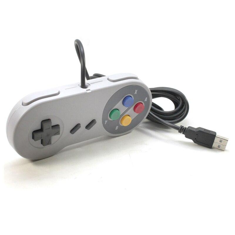 2 pcs/Lot Contrôleur de Jeu Pour Super SNES USB Classique Gamepad pour PC MAC Jeux pour Win98/ME/2000/2003/XP/Vista/Windows7/8/Mac os