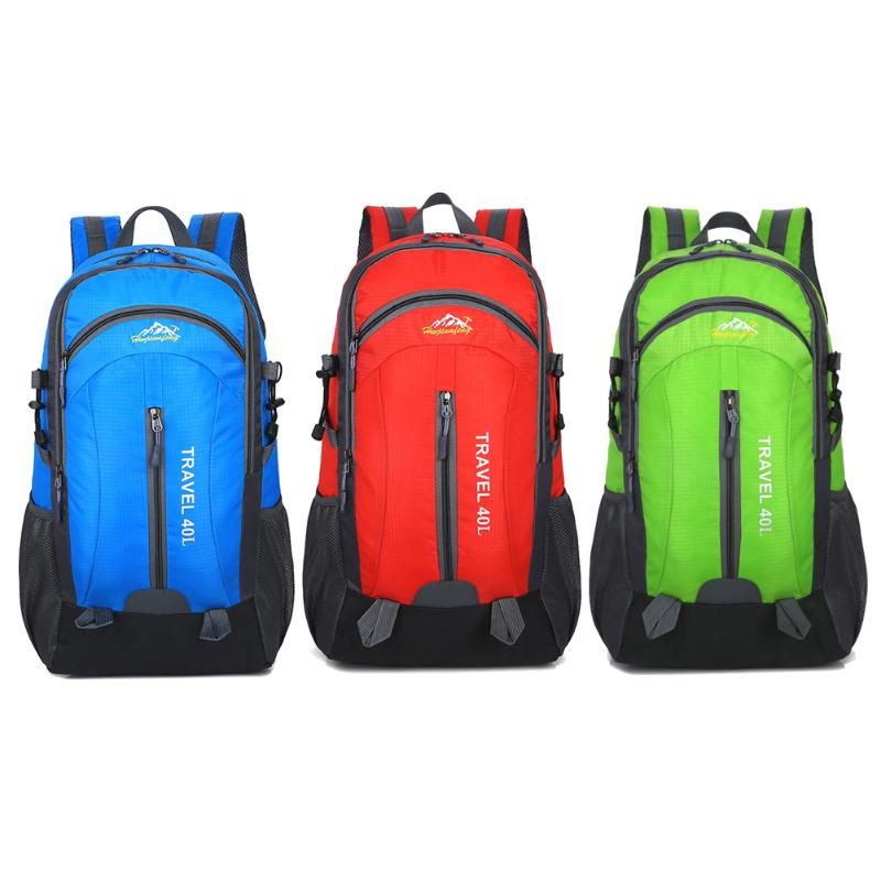 40L Internal Frame Climbing Bag Waterproof Nylon Material Unisex Travel Sport Backpack for Outdoor Camping Hiking 3 Colors high quality 55l 10l internal frame climbing bag waterproof backpack suit for outdoor sports travel camping hinking bags