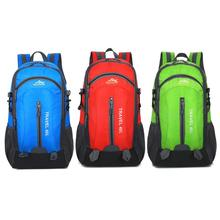 40L Internal Frame Climbing Bag Waterproof Nylon Material Travel Camping Sport Outdoor Backpack Cover Red, Blue, Green with Rain