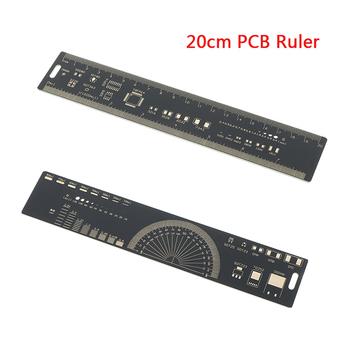 20CM PCB linijka dla inżynierów dla Geeks Makers dla Arduino fani PCB odniesienia linijka PCB opakowania jednostki rozruszniki narzędzie tanie i dobre opinie HUXUAN PCB ruler measuring 20