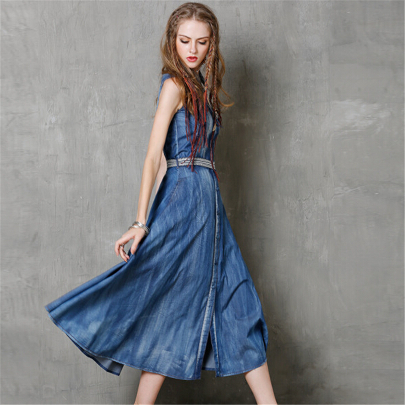 Kevät kesämekko 2020 Womans Fashion korkealaatuiset brodeeratut - Naisten vaatteet - Valokuva 2