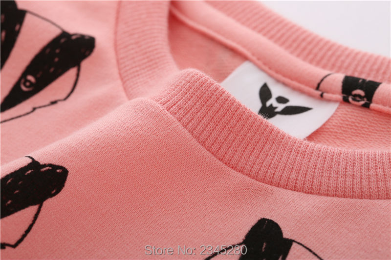T-Shirts For Girls Boys Sweatshirt Badger Print Shirt Children Sweater Kids Bobo Choses Clothes New Year Spring 2017 Tops 3-10Y07