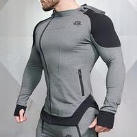 2017 High Quality Men Zipper Hoodies Long Sleeve Bodybulding Thin Hoodies Sweatshirts Gyms Hoodie
