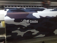 Jumbo Elite Blue Camouflage Vinyl Wrap Roll Large Blue Camo Vinyl Sticker Bubble Free For SUV
