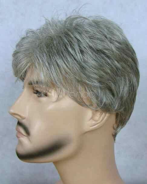 Peluca de moda nuevas pelucas de pelo Natural para hombre, pelucas de mediana edad, envío gratis