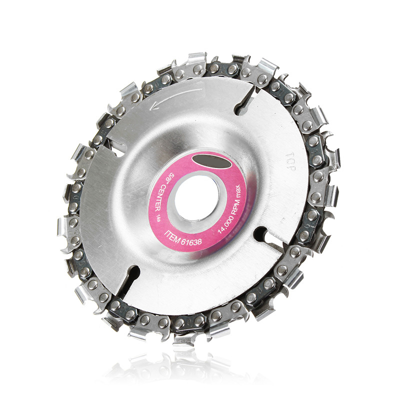 New Durable 4 Inch Grinder Disc And Chain 22 Tooth Fine Cut Chain Set For 100/115 Angle Grinder Woodworking