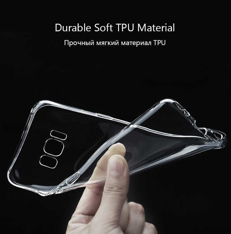 Claro y suave tpu caso de teléfono para Samsung Galaxy J3 J5 J7 primer 2016 A3 A5 A7 2017 S8 Plus nota 8 A8 A530 volver cubierta ultra fina de la piel