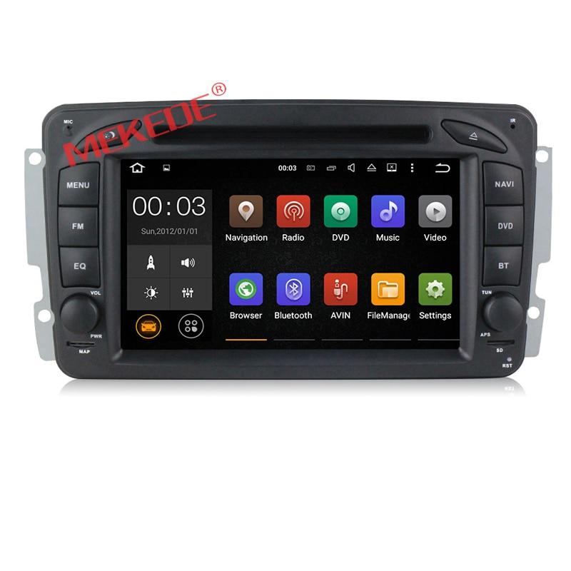 imágenes para 1024*600 HD de pantalla Android7.1 reproductor Multimedia del coche para el Benz W203 W208 W209 W210 W463 Vito Viano GPS navigator reproductor de DVD