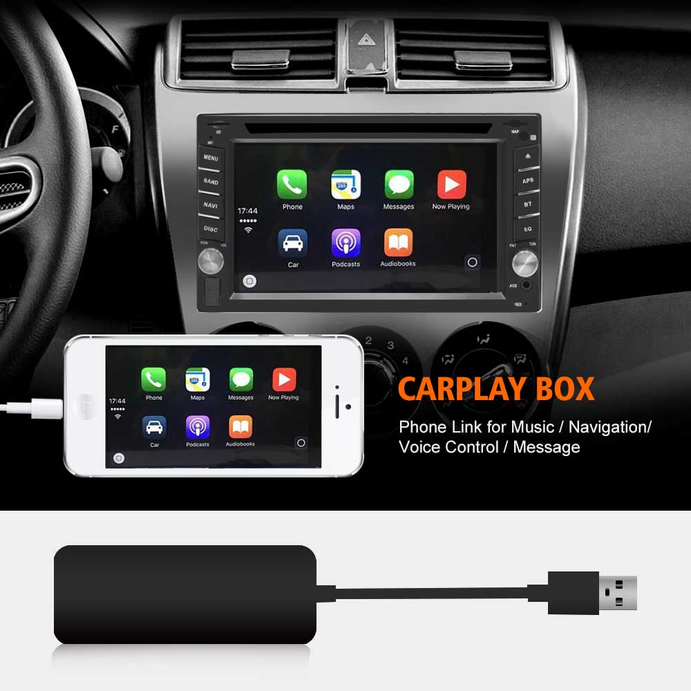New Android car radios USB Apple Carplay Dongle for Android Auto iPhone Carplay Car Navigation Player купить в Москве 2019