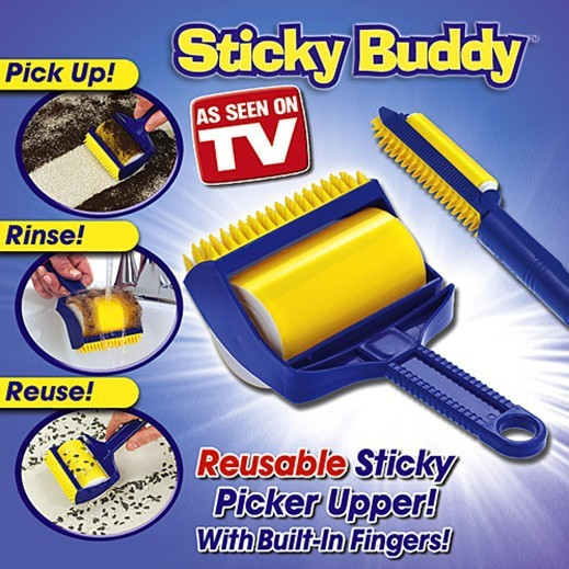 Sticky Buddy Roller Brush Picker OPP Bag Package Reusable Sticky Picker Upper With Built-in Fingers Free Shipping