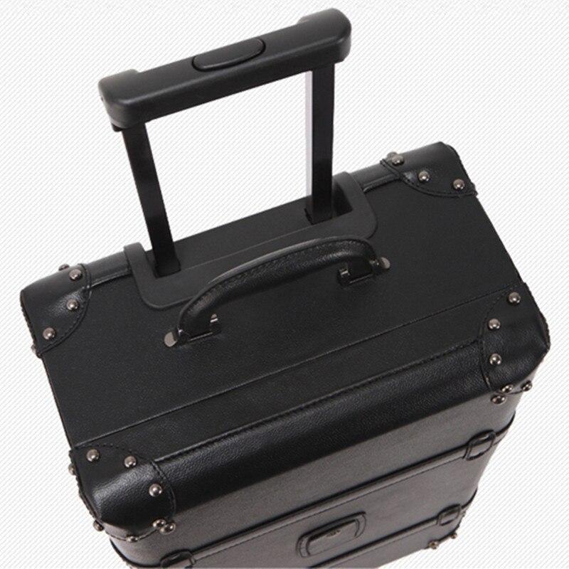 KUNDUI Nya Kvinnor PU Vintage Bagage Resväskor Väskor Universal - Väskor för bagage och resor - Foto 5