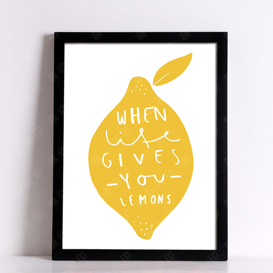 Wall posters Lemon pear and cups wall painting Canvas Art Print Wall ...