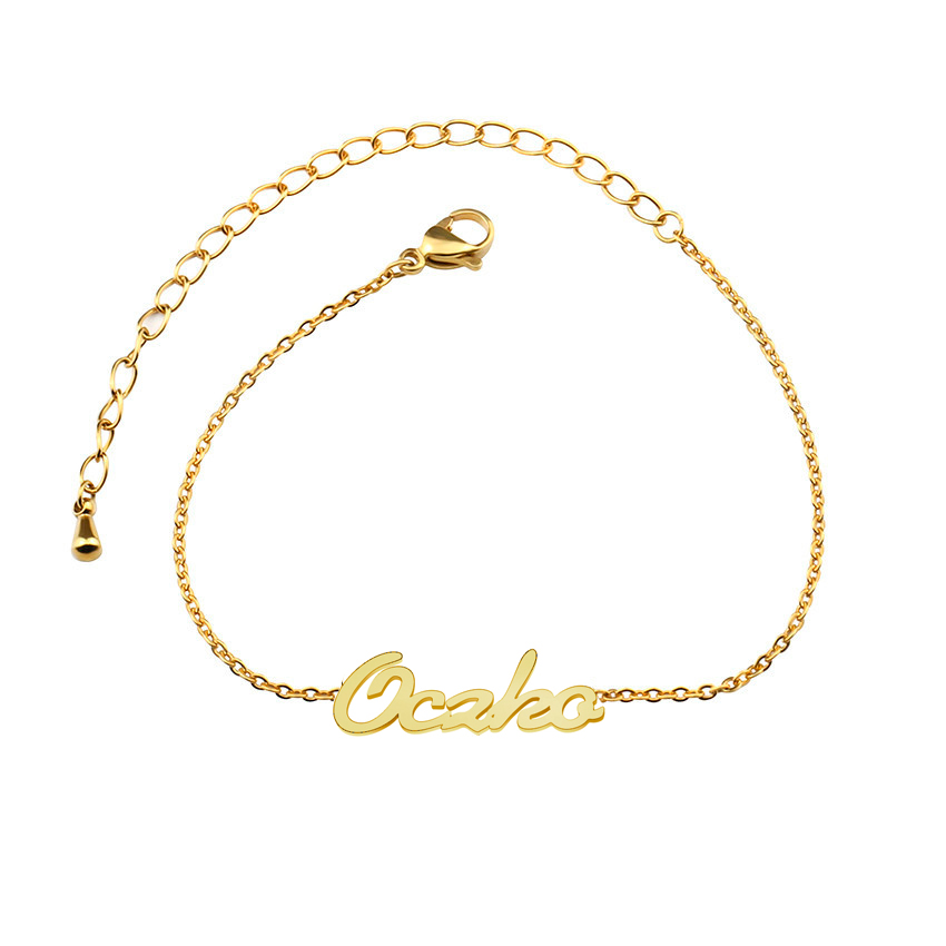 Pesrsonalized Stainless Steel Name Anklets For Women Foot Leg Chain Dainty Gold Colour Pulseira Beach Jewelry Bridesmaid Gifts