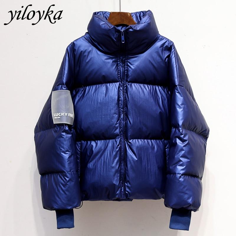 New Glossy Waterproof Female Jacket Parka 2019 Winter Jacket Women Fashion Windproof Warm Padded Down Parkas Female Coat Women