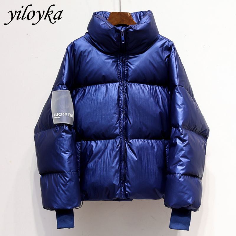 New Glossy Waterproof Female Jacket   Parka   2019 Winter Jacket Women Fashion Windproof Warm Padded Down   Parkas   Female Coat Women