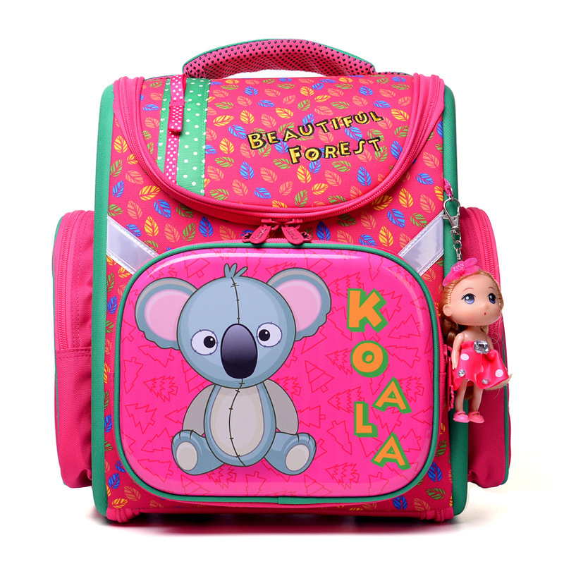 NEW 2017 Cartoon School Bag Girls Orthopedic Waterproof Backpack Children Satchel Elementary School Backpack for Boys Grade 1-4 2017 grade 1 3 5 princess girl new school backpack children cartoon cat kids backpack orthopedic school bag for boys