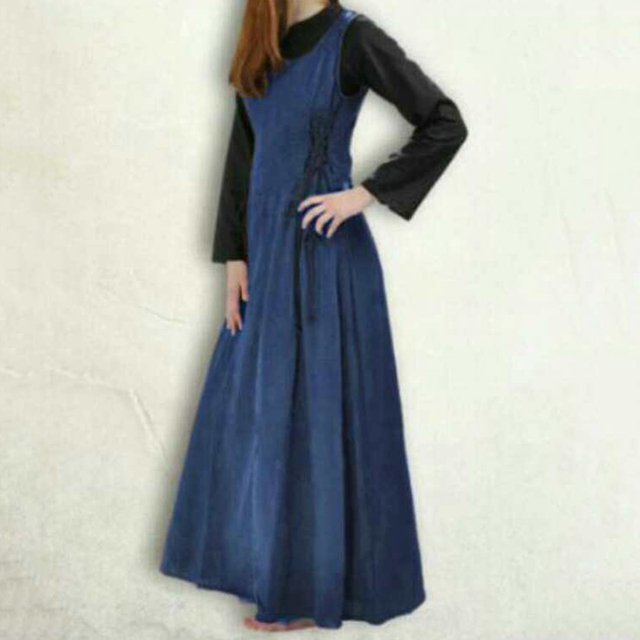 womans renaissance victorian medieval gothic long christmas dresses for halloween costumes o neck lace up retro - Long Christmas Dresses