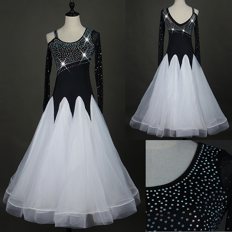 Standard Ballroom Dance Dresses For Women New Arrival High Quality Organza Competition Dancing Dress Adult