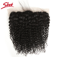 SLEEK HAIR 13X4 Malaysian Curly Hair Lace Frontal 8 18 Inches 1 Piece Ear To Ear Free Part Closure Remy Human Hair