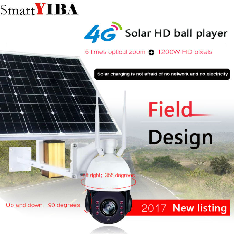 SmartYIBA беспроводной сети 1080 P солнечной энергии ip камера питается от батареи 4 г/м² видеонаблюдения Открытый Wi Fi с 32 ГБ TF