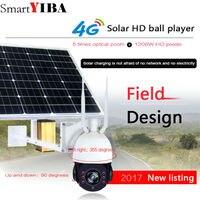 SmartYIBA Wireless Network 1080P Solar Power Battery Powered IP Camera 4G GSM CCTV Surveillance WiFi Outdoor With 32GB TF