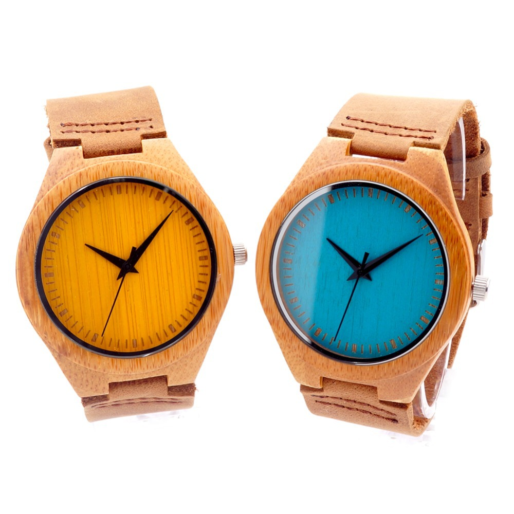 BOBO BIRD 2016 New Colorful Natural Bamboo Wood Men Watches With Real Leather Strap Relogio Masculino In Gift Box corporate real estate management in tanzania