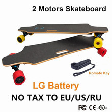 No Tax 2016 Newest Double Motors LG Battery 4 Wheels Electric Skateboard Hoverboard Longboard Scooter Boosted board