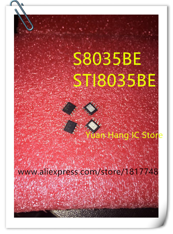 Free Shipping  100pcs STI8035BE S8035BE   STI8035B  STI8035 8035 SOP-8 Power Management Chip