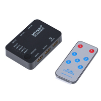 MT VIKI 5x1 4Kx2K HDMI Switch Selector 5 in 1 out Switcher support 3D IR Remote Controller 4K*2K USB Power MT SW501SR