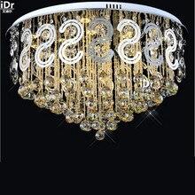 Светодиодная хрустальная лампа низкого давления, Современная круглая лампа для гостиной, спальни, ресторанное освещение, роскошное статусное потолочное освещение, Rmy-0333