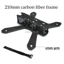 Углеродного волокна DIY Мини Drone FPV-системы 210 210 мм с 4 мм ARM Cross Racing 4 оси Quadcopter лучше чем qav210 для tweaker 210 rd210