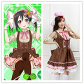 2017 nuevo anime love live yazawa nico caramelo dulce cos cosplay maid dress