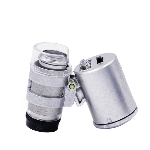 60X Portable Microscope  Magnifier Magnifying Glass Eye Lens LED Jewellery Loupe UV Currency Detector 40%off Lahore