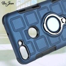 Roc Джоан матовый Ice Feel чехол для huawei P Smart панцири металлическое кольцо автомобильный держатель ударопрочный силиконовый PC Прохладный Coque