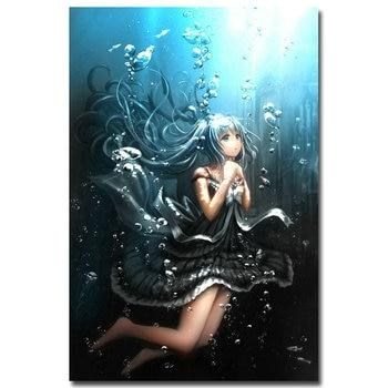 Аниме плакат гобелен шелковый Хацуне мику