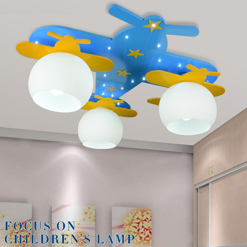 Remote Control Child Bedroom Ceiling Lights Aircraft Children Cartoon Lamps Housing Child Boy Ceiling Light