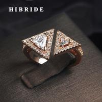 HIBRIDEหรูหราสามเหลี่ยมออกแบบใสประดับ