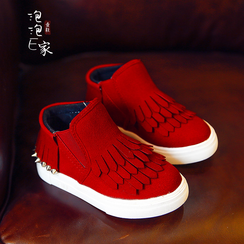 Female child font b boots b font 2016 autumn and winter children shoes girls shoes genuine