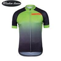 Мудрость листья 2017 дизайнеры бренда Для мужчин profesional Велосипеды Джерси Для женщин с коротким рукавом велосипед одежда команды Спортивная