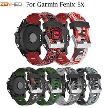 купить ZENHEO 26mm Silicone Watch Strap Replacement for Garmin Fenix 5X/5X Plus Outdoor Sport Band for Garmin Fenix 3 Watchband Straps по цене 191.49 рублей