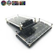 ASUS AURA синхронизации 5 V 3-pin RGB концентратора usb-концентратор 3Pin вентилятор для материнской платы с порт питания Molex 4 P или SATA