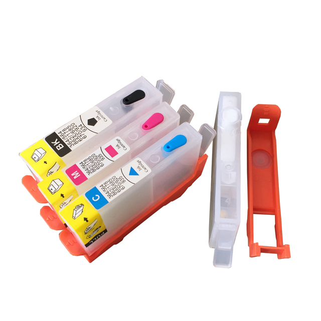 4 Colors For HP 655 HP655 Empty Refillable Ink Cartridge With Resettable Chip For HP Deskjet 3525 4615 4625 5525 6525 Printer  1