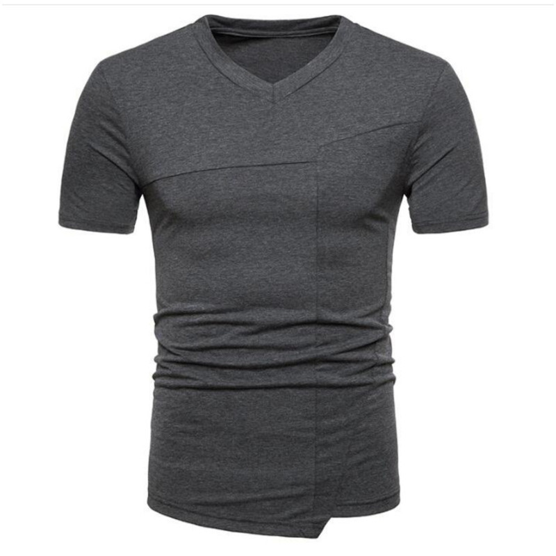 Summer wear men's fashion tshirts irregular design men short sleeve sleeved T-shirt mens clothing t shirts
