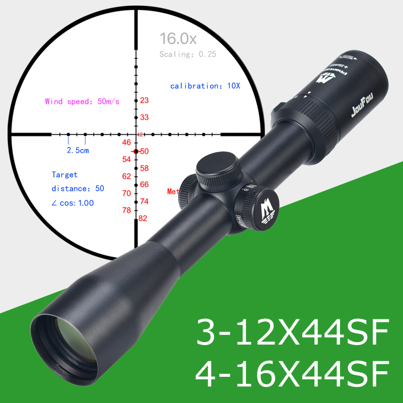 JOUFOU 4-16X44 SF Hunting Riflescope Mil-dot Wire Reticle Tactical Optical Sight Side Parallax Tactical Rifle Scope kandar 4 16x40 aoe mil dot reticle riflescope locking resetting full size hunting rifle scope tactical optical sight