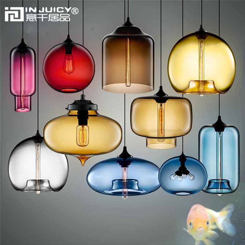 American Vintage Industrial Glass Pendant Lights Fixtures Retro E27 Edison Ceiling Lampshade for Cafe Dining Rooms Restaurants vintage edison chandelier rusty lampshade american industrial retro iron pendant lights cafe bar clothing store ceiling lamp