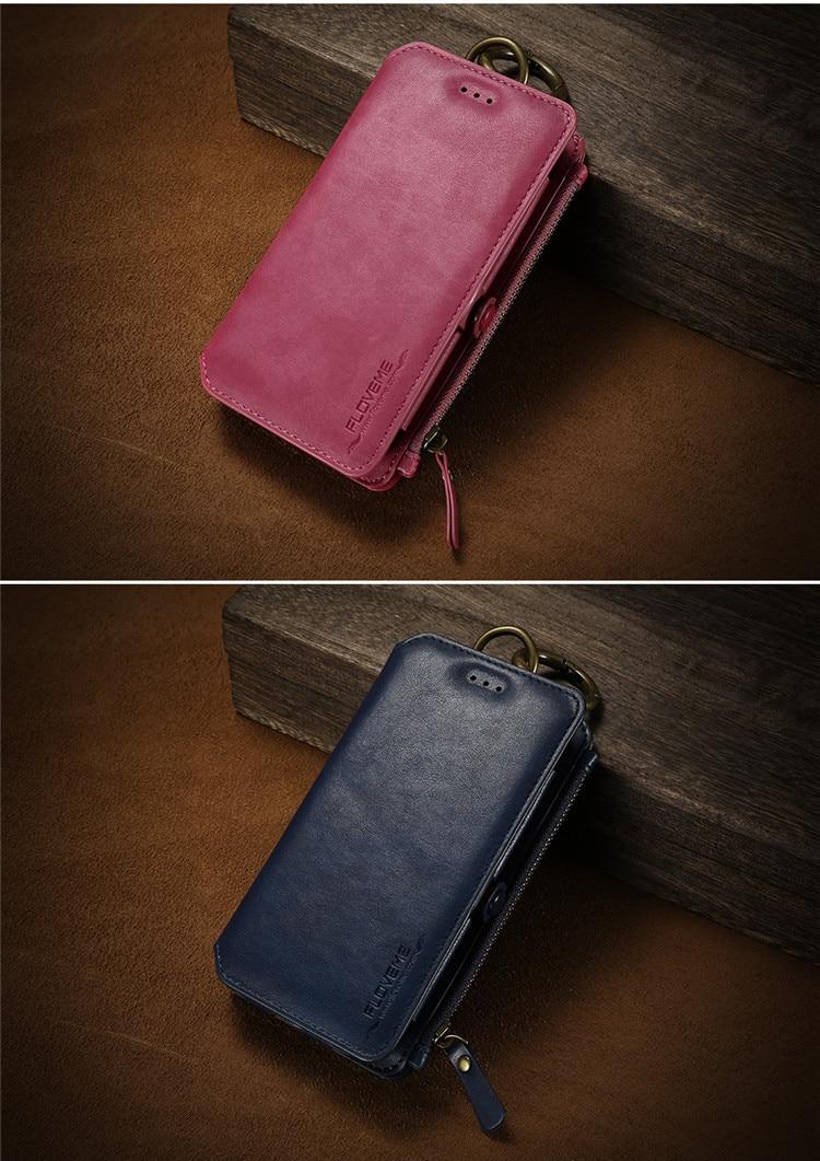 HTB1IVsEf8jTBKNjSZFNq6ysFXXaY FLOVEME Luxury Retro Wallet Phone Case For iPhone 7 7 Plus XS MAX XR Leather Handbag Bag Cover for iPhone X 7 8 6s 5S Case shell