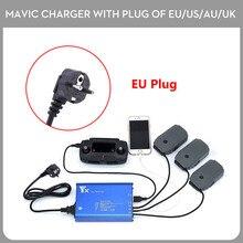 Paralelo Mavic Pro 5 En 1 Cargador de Batería Inteligente Rápida Hub de carga Con NOSOTROS A Tierra Del Enchufe/Enchufe de LA UE Para DJI Mavic Pro